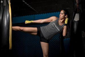 Training With Heavy Bag Kicks